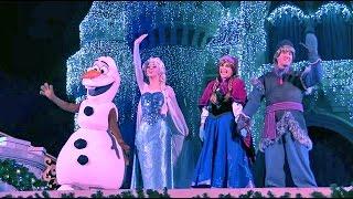 Video Frozen Holiday Wish castle lighting show debut - Elsa, Anna, Olaf, Kristoff at Walt Disney World MP3, 3GP, MP4, WEBM, AVI, FLV Mei 2018