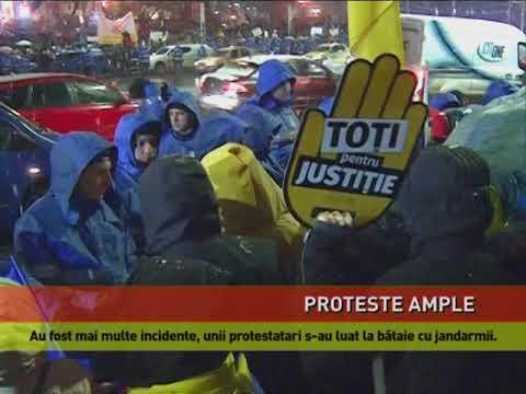 Proteste ample în toată ţara