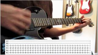 Foo Fighters - Walk (guitar #1 cover - Dave's part) WITH TABS