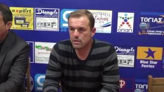 Τριγλία Ραφήνας - Ιωνικός 0-3: Οι δηλώσεις των δύο προπονητών Αρχοντάκη και Καλοπήτα
