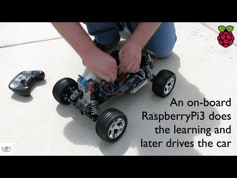 Self Driving Car Learns Online and On-board on Raspberry Pi 3