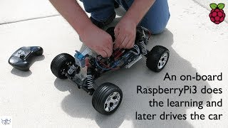 Eric Laukien, Head of R&D at Ogma demonstrates a self-driving car based on an inexpensive RC car, a Raspberry Pi 3 and an...