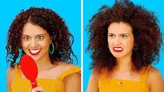 Video FUNNY CURLY HAIR PROBLEMS || Girls With Curly Hair Struggles by 123 GO! MP3, 3GP, MP4, WEBM, AVI, FLV September 2019