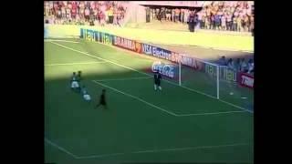 Brasileirão 2001 - Goiás 2 x 0 Flamengo - Estádio: Serra Dourada - Gols do Verdão: Gauchinho e Índio - Público: 49.981 - Imagens: Globo ...