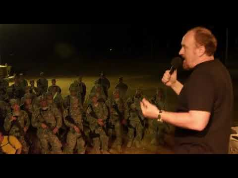 Louis C.K. performing for the troops on Louie