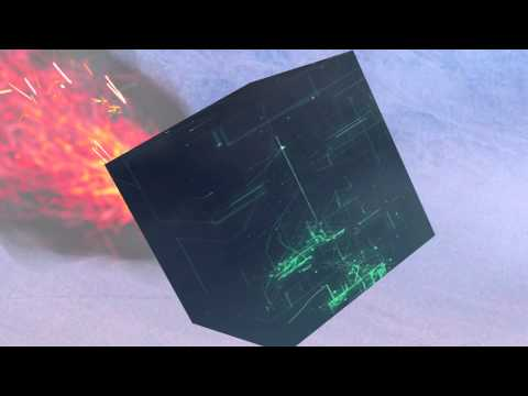 Alien cube crashing onto planet Infinity Spawn Series Ship Test Video March 2014 by Chris Wells