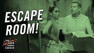 Video James Corden & Ariana Grande Visit an Escape Room MP3, 3GP, MP4, WEBM, AVI, FLV November 2018