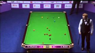 Ronnie O'Sullivan - Anthony McGill (Frame 7) Snooker International Championship 2013 - Round 1