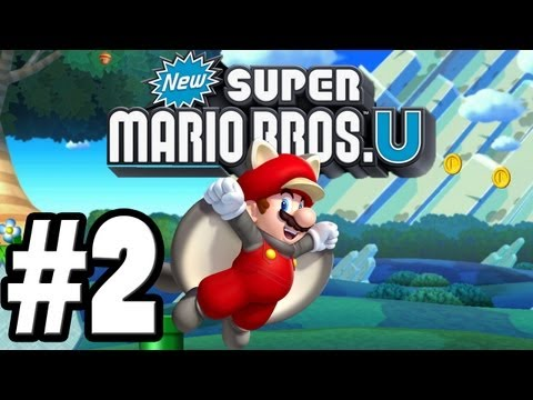 Let's Play New Super Mario Brothers U – World 1-2 – All Star Coins and Secret Exit