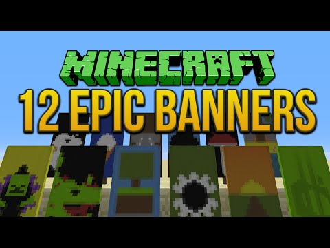 Minecraft: 12 Epic Banners Tutorial