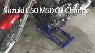 7. How To Change The Suzuki Boulevard C50 M50 VL800 Motorcycle Oil