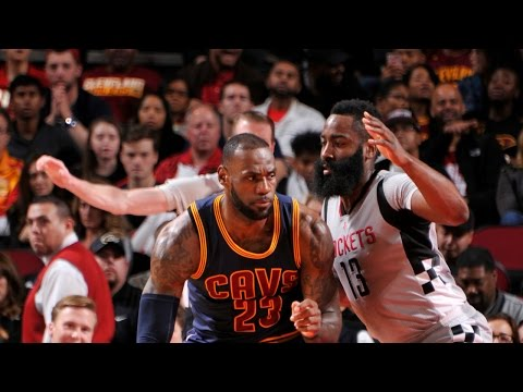 James Harden and LeBron James Duel in Houston