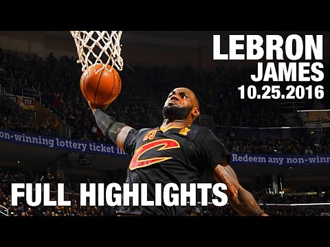LeBron James' TRIPLE DOUBLE Full Highlights l Opening Night 10.25.16