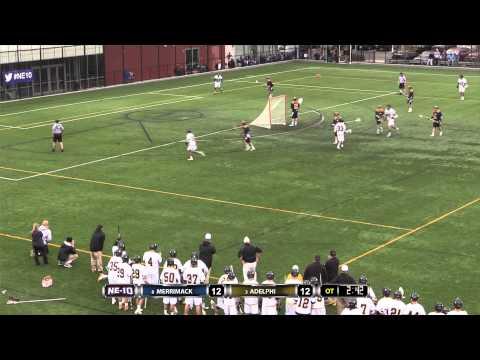 MLAX: Merrimack-Adelphi NE-10 Championship Highlights