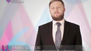Paweł Nowicki zaprasza na 6 Forum Rozwoju Mazowsza