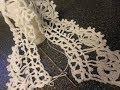 Orilla # 11 Crochet y lazos con abanicos