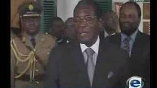 Archbishop Desmond Tutu brands Mugabe a disgrace.