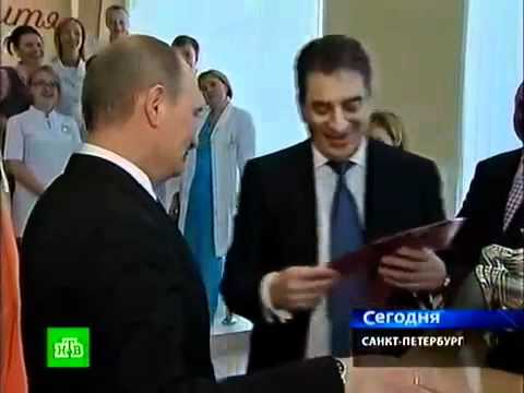 Putin visited Mother and Child Clinic in Saint-Petersburg