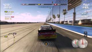 7. NASCAR THE GAME 2011 Actual Gameplay from the Back to the Front with Jeff Gordon