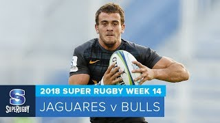 Jaguares v Bulls Rd.14 2018 Super rugby video highlights