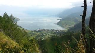 Parapat Indonesia  city pictures gallery : Lake Toba view from Niagara Hotel in Parapat Indonesia Wed 22 Oct 2014.