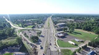 Aerial View of 14 Mile and Orchard Lake Road Roundabout