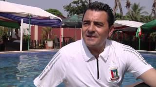 Interview of Esteban Becker, head coach of Equatorial Guinea. Orange Africa Cup of Nations, EQUATORIAL GUINEA 2015...