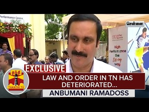 Law-and-Order-in-Tamil-Nadu-has-deteriorated--Anbumani-Ramadoss--Thanthi-TV