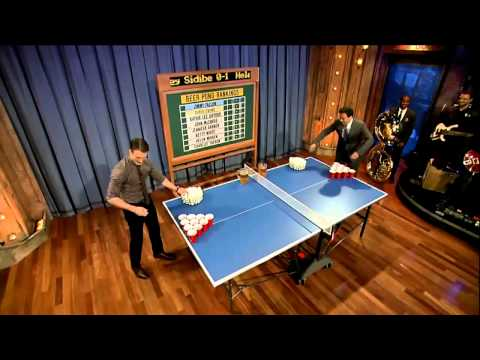 Jimmy Fallon – Beer Pong with Chris Evans (7-12-11)