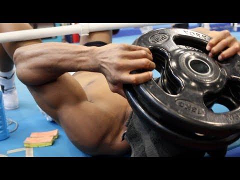 ANTHONY JOSHUA INSANE HEAD WEIGHT TRAINING AHEAD OF JOSEPH PARKER CLASH (видео)
