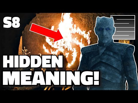 Game Of Thrones Season 8 Episode 1 - Spiral Night King Symbol Explained