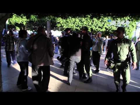 الأمن المغربي يقمع مسيرة احتجاج على قصف اليمن (فيديو)