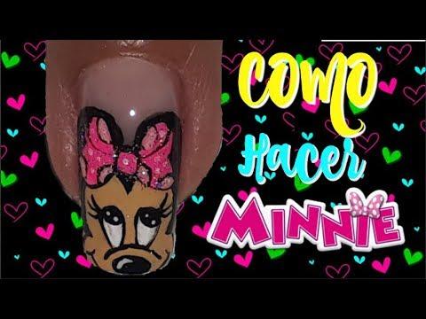 Minnie mouse nail art/ Decoracion de uñas minnie mouse