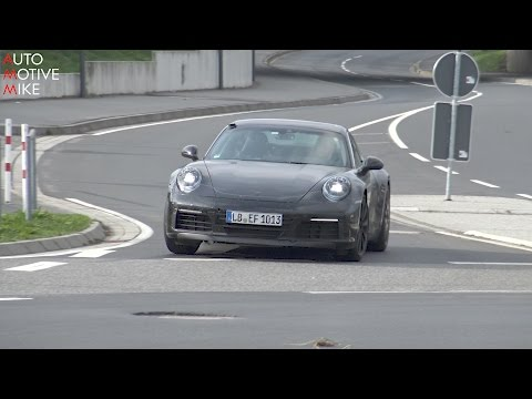 2019 Porsche 911 Carrera spied testing at the Nürburgring