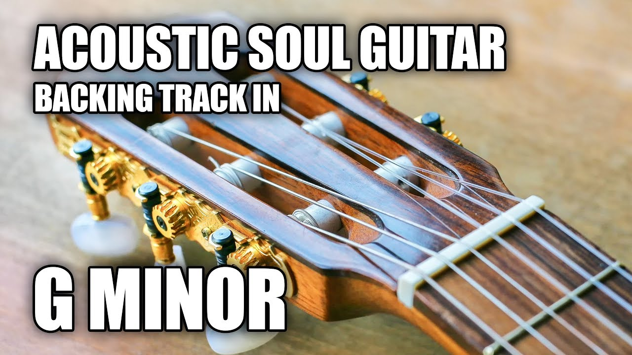 Soft Acoustic Soul Guitar Backing Track In G Minor