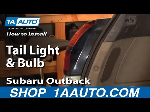 How To Install Replace Taillight and Bulb Subaru Outback 00-04 1AAuto.com