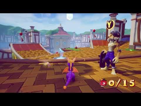 Sunny Villa gameplay + skateboard (niveau Spyro 3) de Nos impressions en vidéo sur la nouvelle démo de Resident Evil 2