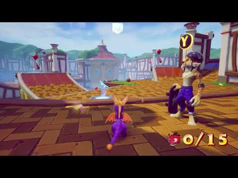 Sunny Villa gameplay + skateboard (niveau Spyro 3) de Spyro Reignited Trilogy