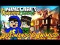 Minecraft Guerra: Origens - QUEIMANDO O INIMIGO! #2