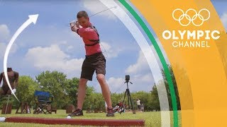 "A sensor-laden vest is at the heart of new technology for golf enthusiasts everywhere, analysing swings at incredible speeds.Discover the amazing technology that takes Olympians even further in the ""The Tech Race"": http://bit.do/TechRaceENSubscribe to the official Olympic channel here: http://bit.ly/1dn6AV5"