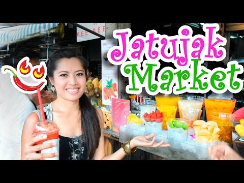★ Thai Food at Bangkok Weekend Market Jatujak, Chatuchak or JJ Market Thailand Street Food