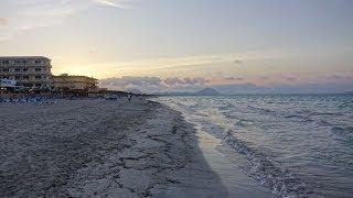 Sonnenuntergang am Strand von Can Picafort