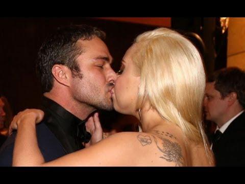 Lady Gaga Kisses Taylor Kinney at Golden Globes Party 2014!
