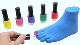 Learn Colors With Nail Polish Foot Fun Toys Nursery Rhymes How To Make For Kids