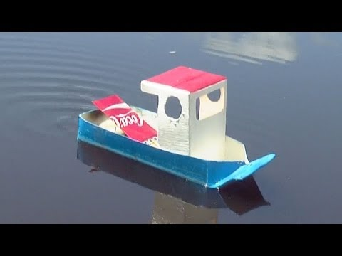 Boat - How to make a simple pop pop boat from house hold materials. This video tutorial shows you a step by step guide for making a model pop pop ( put put ) boat f...