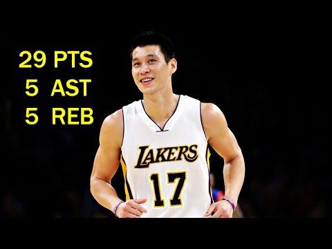 Jeremy Lin林書豪~2015 03 22 Lakers vs 76ers 湖人vs76人