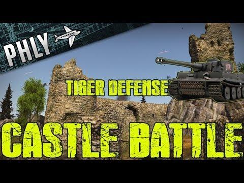 War Thunder – Tiger TANK Castle Battle – War Thunder Tanks Gameplay