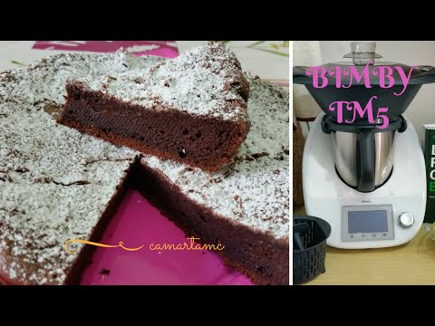 ricetta bimby: torta tenerina ferrarese con cuore cremoso al cioccolato