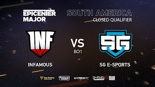 Infamous vs SG e-sports, EPICENTER Major 2019 SA Closed Quals , bo1 [Eiritel]
