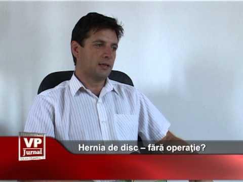 Hernia de disc – fără operaţie?